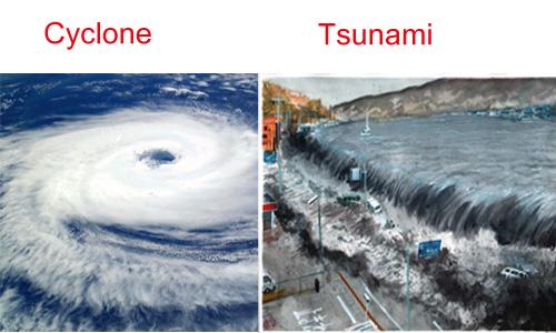 Cyclones and Tsunami