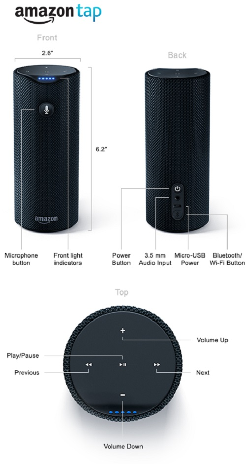 Difference between Amazon Echo and Amazon Tap-1